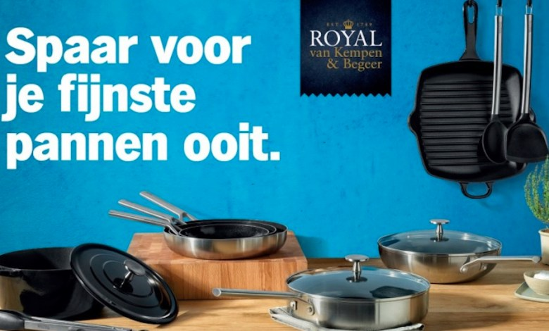 Photo of Albert Heijn starts savings campaign with pans Royal van Kempen and Begeer