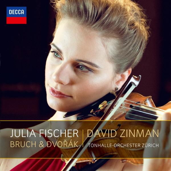 《Bruch & Dvořák》,收錄Bruch與Dvořák的兩首小提琴協奏曲,而Julia Fischer的合作對象為David Zinman指揮之下的Tonhalle-Orchester Zürich。
