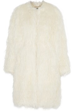Manteau Fourrure Blanc DKNY