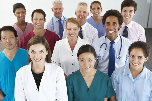 Group Portrait Of Workers In Medical Professions