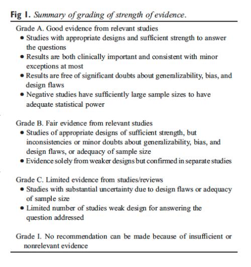 Figure 1 Summary of Grading of Strength of Evidence
