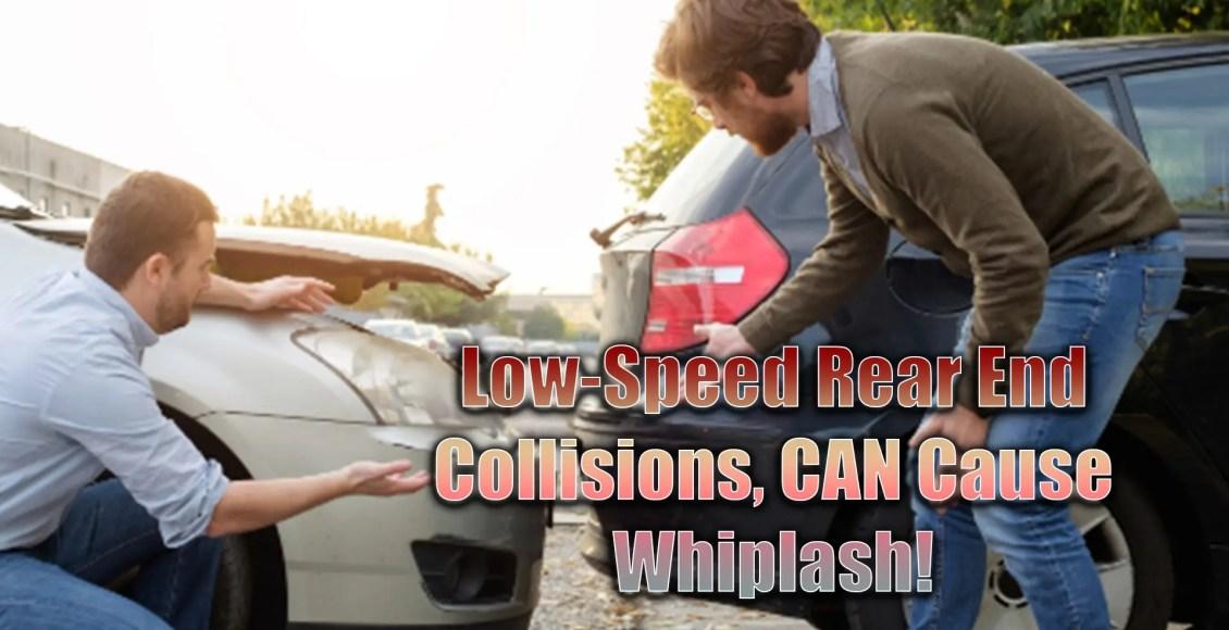 low-speed rear end collision whiplash el paso tx.