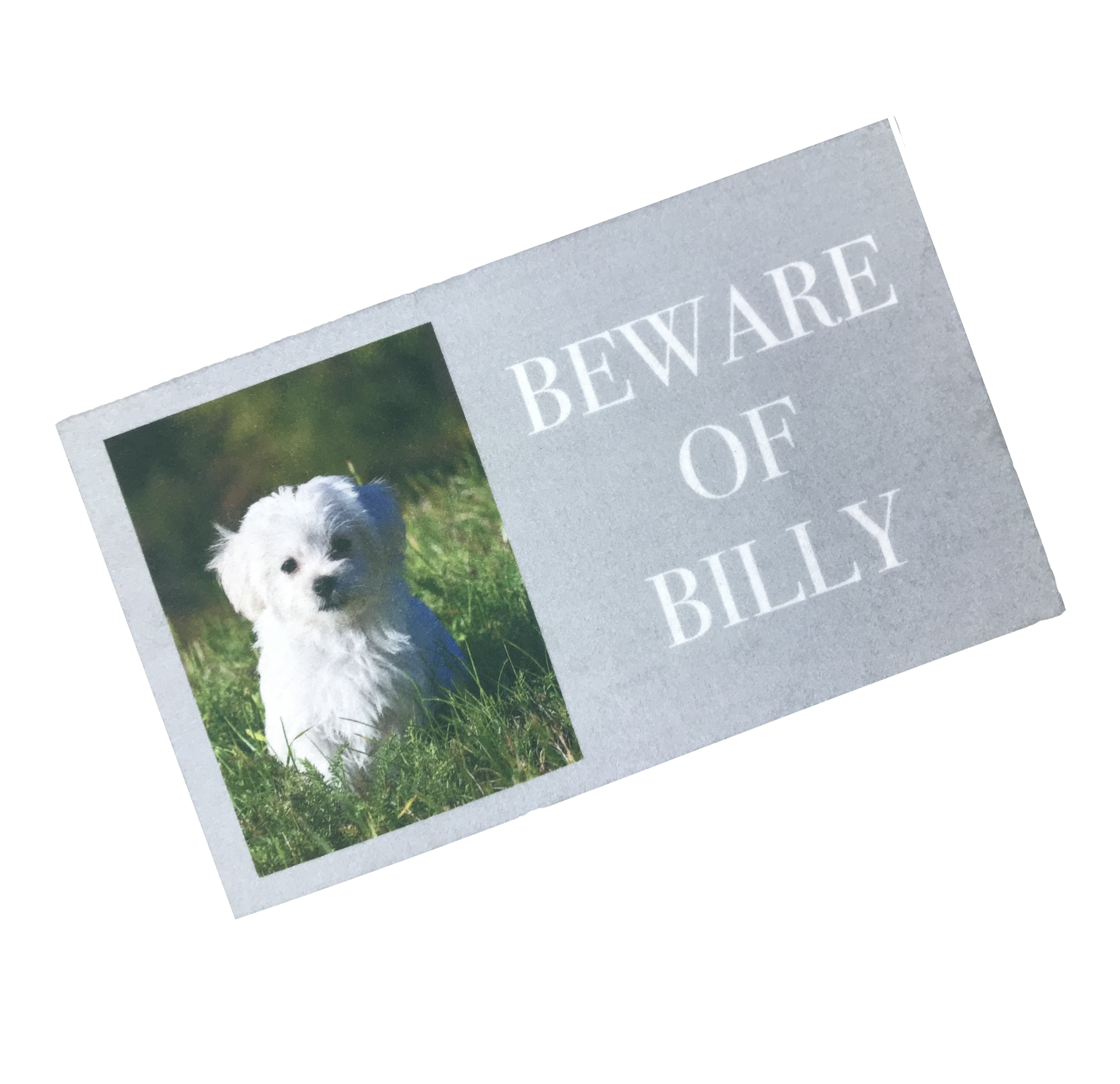 Beware Of Personalised Photo Door Mat