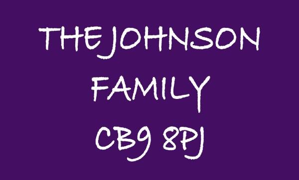 Purple The ... Family & Postcode Personalised Doormat