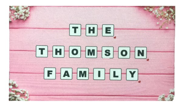 The ... Family Home Wood Effect Personalised Door Mat