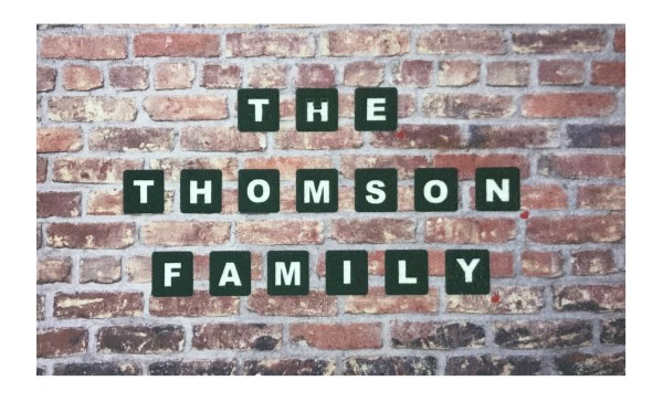 The ... Family Home Brick & Tile Personalised Door Mat