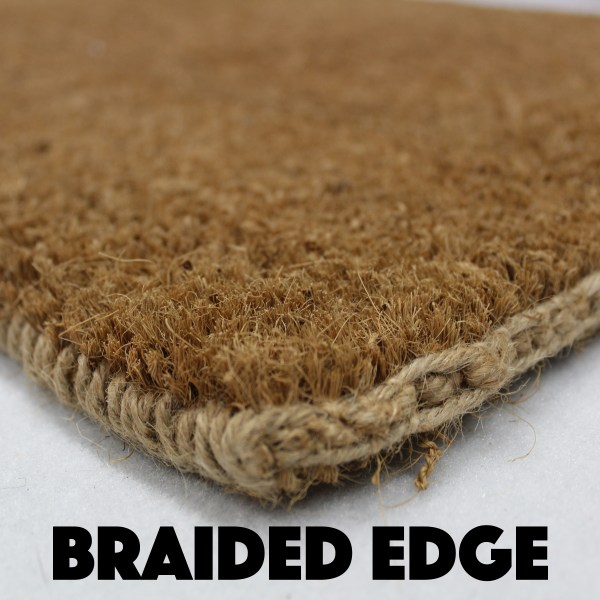 Braided Edge of Coir Doormat