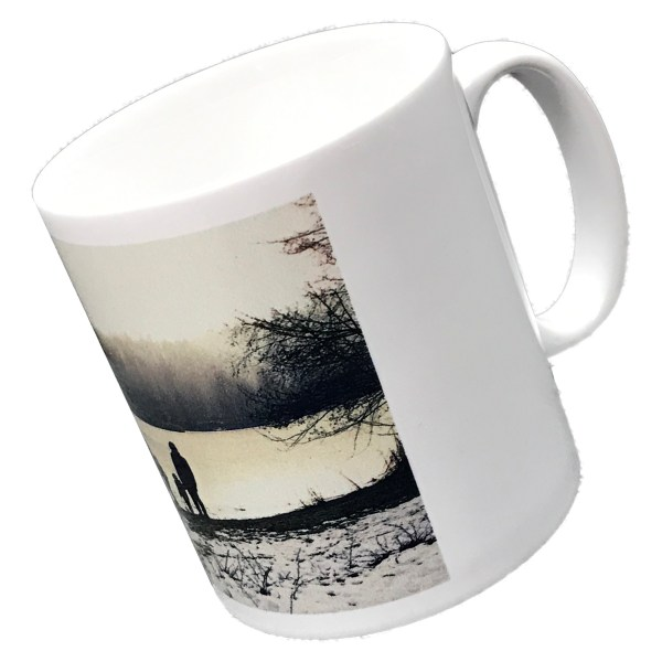 personalised standard white mug printed with a photo of a landscape