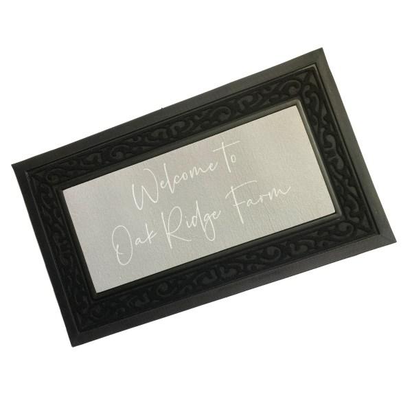personalised rubber edged doormats, printed doormats, personalised rubber edged doormat