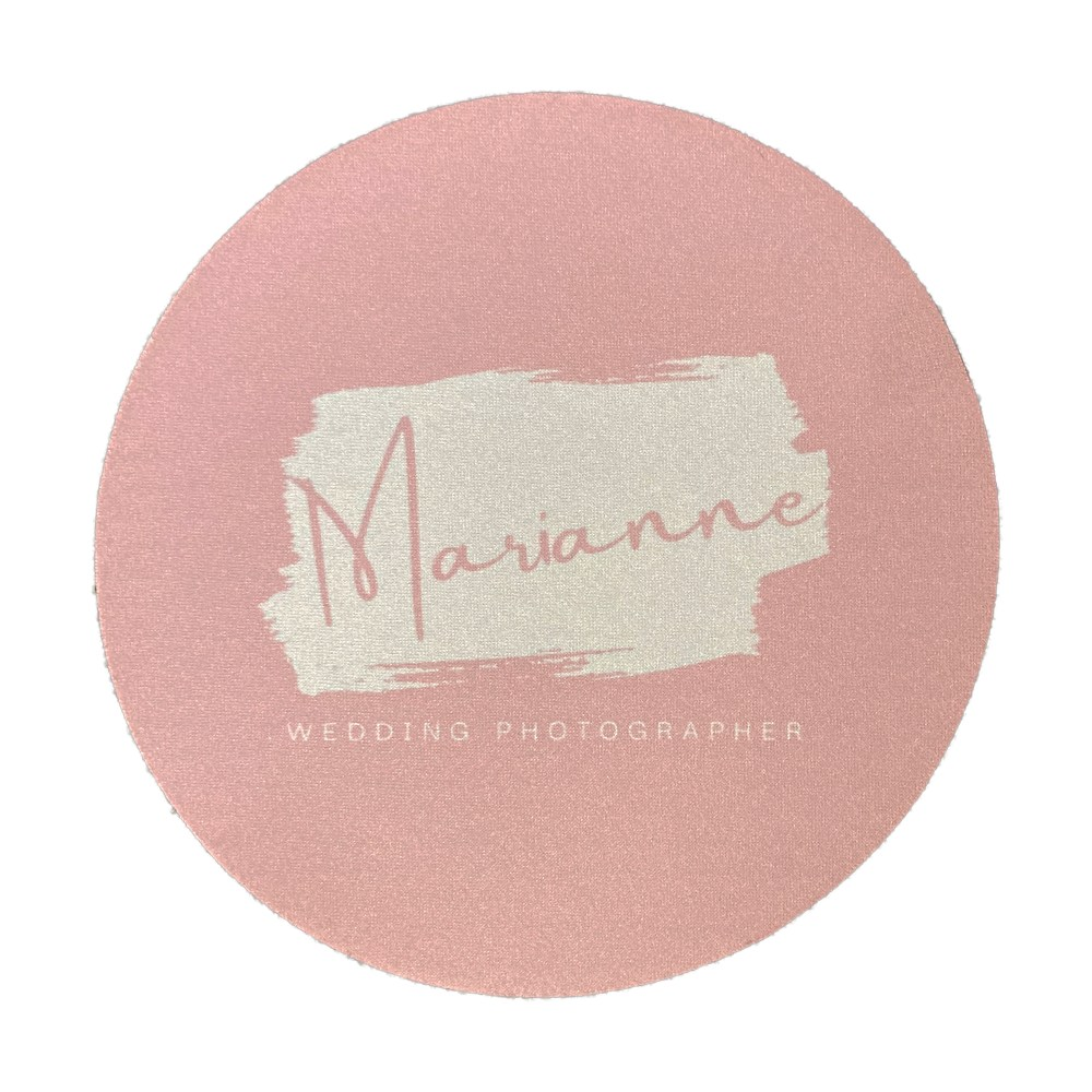 round personalised mouse mat