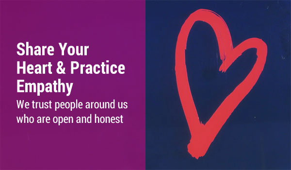Share Your Heart & Practice Empathy