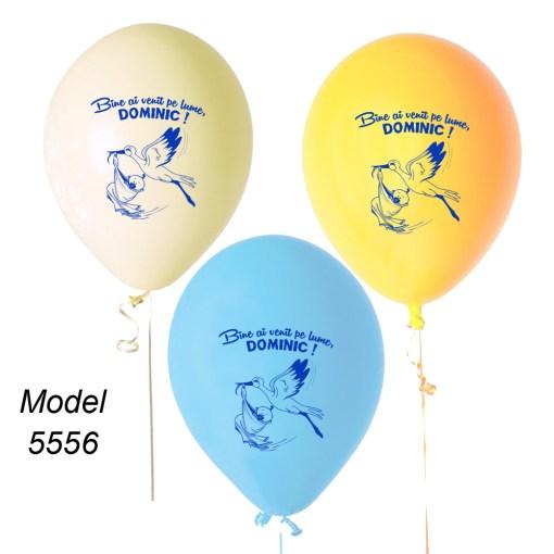 Baloane personalizate cu barza pentru botez