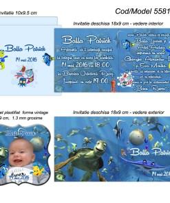 Invitatii personalizate cu magnet tematica marina