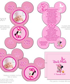 Invitatii Botez Minnie Mickey Mouse