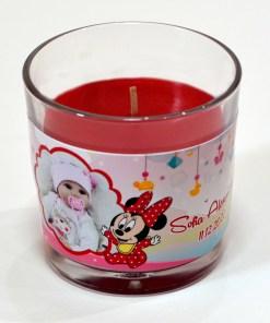 Lumanare personalizata marturie botez tematica Minnie Mouse