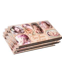Magnet nuanta crem personalizat cu 6 fotografii