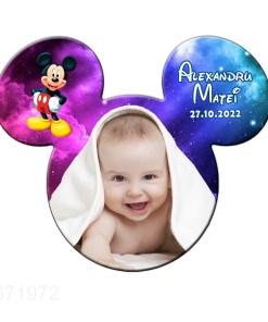 Magnet Mickey marturie botez, model fantezie stelute