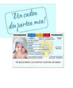 Marturie botez tip buletin, carte de identitate baby