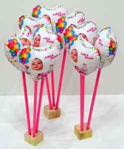 Aranjament masa din 3 baloane personalizate