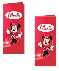 Meniu botez Minnie Mouse culoare rosie