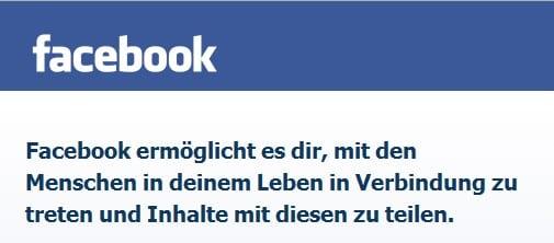 Das Facebook-Motto: Facebook ermöglicht es DIR...