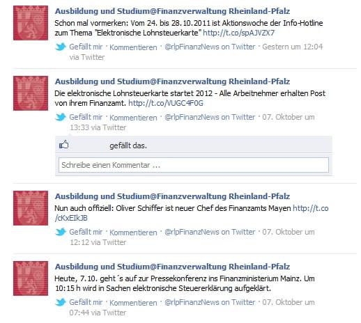 Ansprache von Azubis bei der Finanzverwaltung Rheinland-Pfalz
