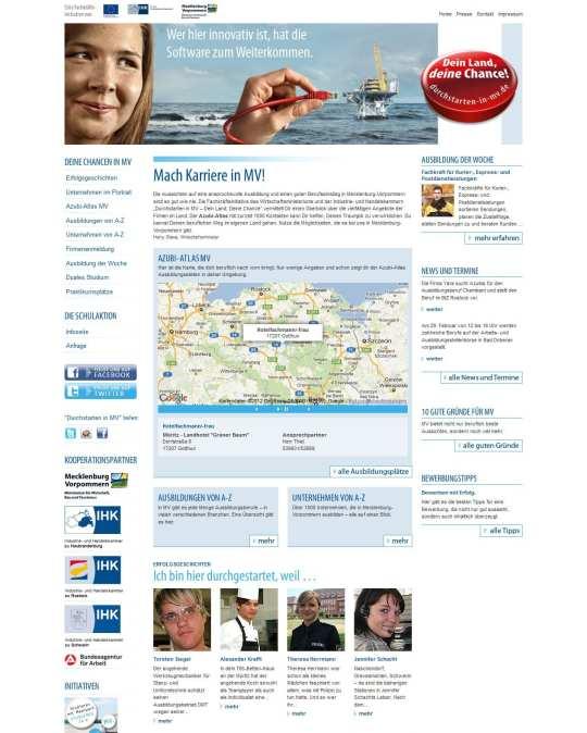 Website Dein Land - deine Chance