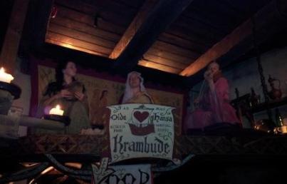 Das ist authentisch - im Olde Hansa wird nicht nur mittelalterlich geschlemmt sondern auch musiziert