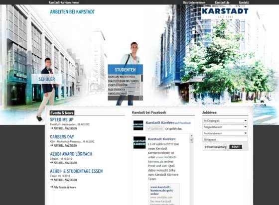 Suchspiel auf Karstadt Karriere - wo ist die restliche Zielgruppennavigation geblieben?
