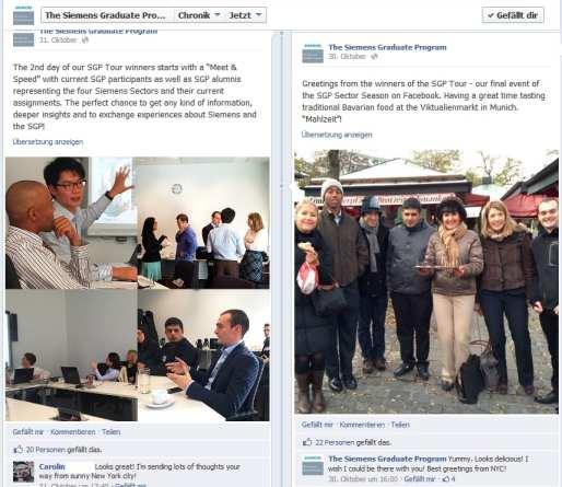 Auch auf der Facebookseite wurde der SGP Roundtable dokumentiert