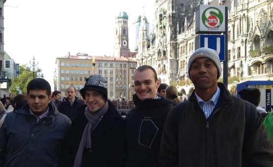 Die Gewinner des SGP erkunden Münchens City