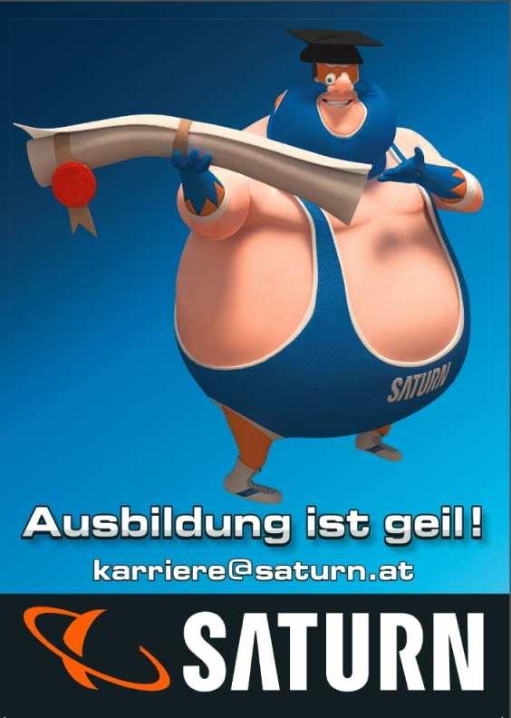 Ausbildung ist geil - Quelle Lehrlingsfolder Saturn Österreich
