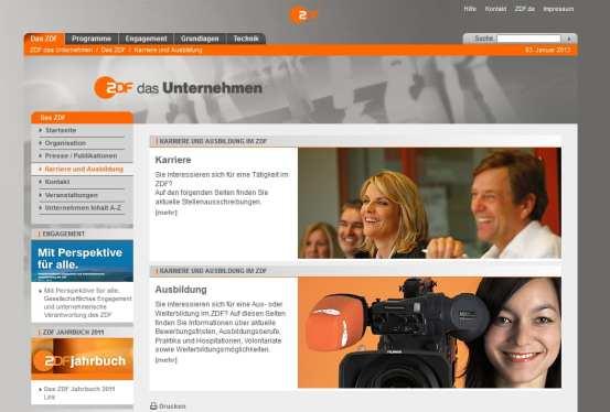 Karriere beim ZDF - bewirbt man sich beim Zweiten besser