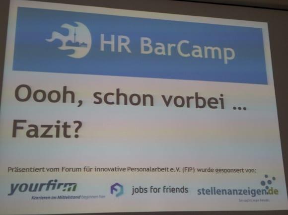 HR Barcamp 2013 Oooh, schon vorbei