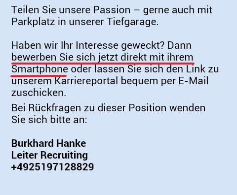 Job App von zeb - Bewerbung direkt per Smartphone. Aber wie?