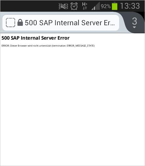 Internal Server Error - wenn die Weiterleitung mobil nicht funktioniert