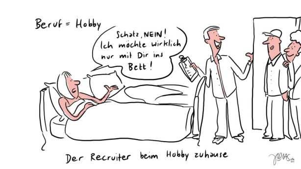 Der Recruiter beim Hobby zuhause 2