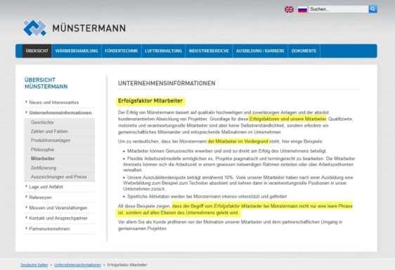Erfolgsfaktor Mitarbeiter angeblich keine Phrase - Münstermann