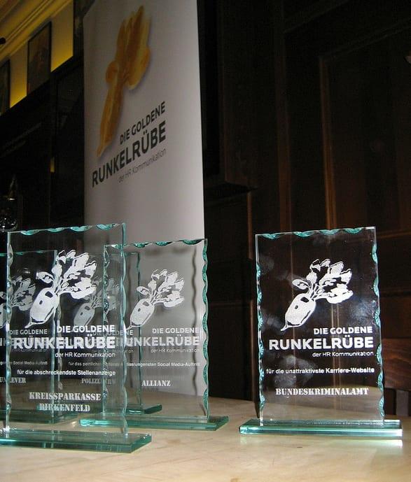 Goldene Runkelrübe - Die Awards