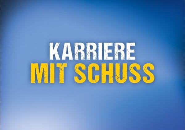 Personalmarketing der Polizei Sachsen mit Postkarten - Karriere mit Schuss