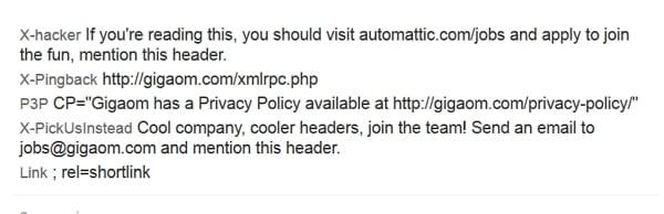 Rekrutierung von Entwicklern mittels HTTP-Request bei Gigaom