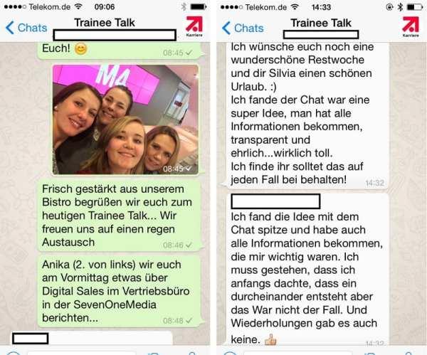 TraineeTalk per WhatsApp bei ProSiebenSat.1