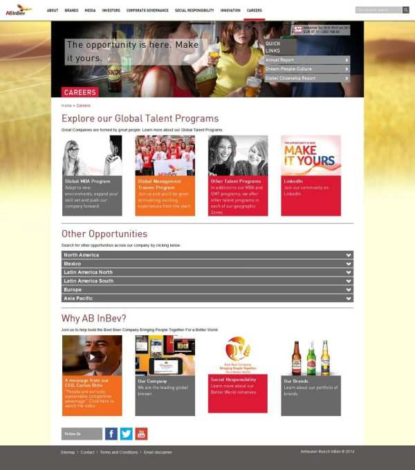 Career-Website InBev