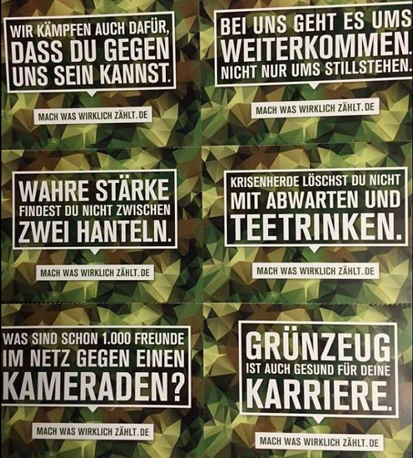 Bildmotive der Bundeswehr-Kampagne Mach, was wirklich zählt