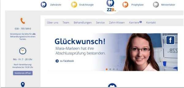 Die Wertschätzung gegenüber dem Mitarbeiter zeigt sich bei ZZB direkt auf der Homepage