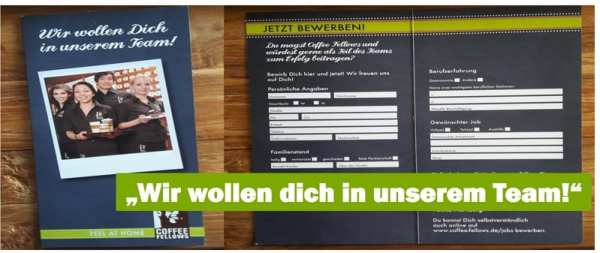 Personalmarketing mit Flyer bei Coffee Fellows