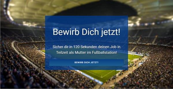 Job als Teilzeit-Mutter im Fußballstadion