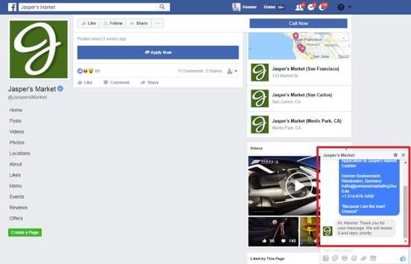 Jobs on Facebook - Die Eingangsbestätigung kommt per Messenger