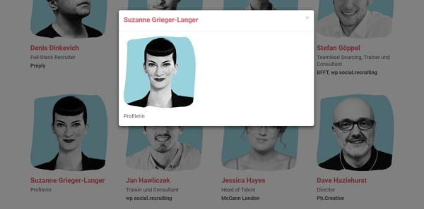 Profillose Proflerin Grieger-Langer - Screenshot Website Social Recruiting Days
