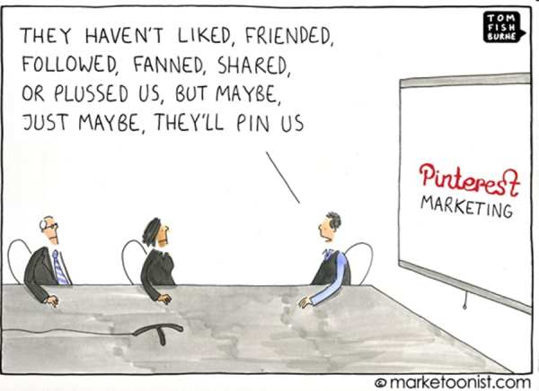 Auf irgend einem Social Media Kanal wird's schon klappen - c) marketoonist